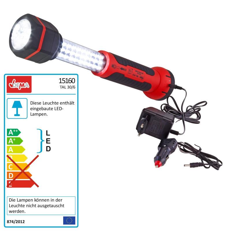 DEMA Vysúvateľná LED pracovná lampa s magnetom TAL 30/6