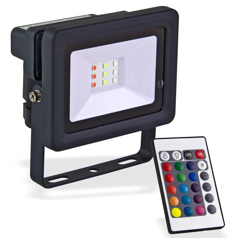 LED reflektor 10 W meniaci farby