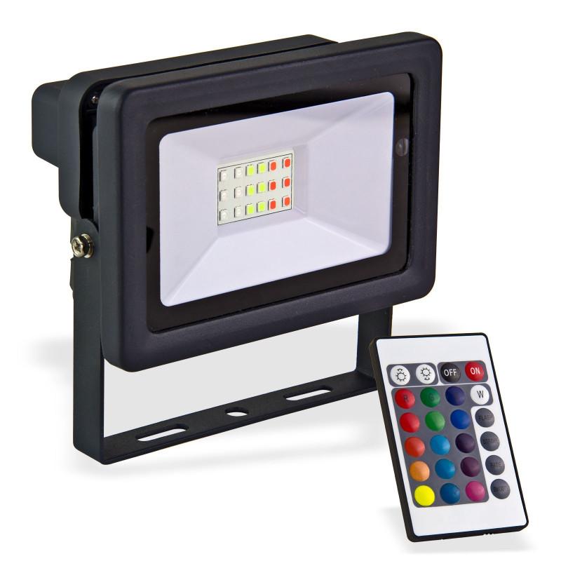 DEMA LED reflektor 20 W meniaci farby