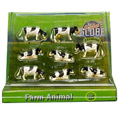 Kids Globe Kravy čierno-biele 1:87, 8 ks