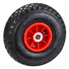 DEMA Nafukovacie koleso s guľôčkovým ložiskom pre vozík / fúrik 3.00-4, červené