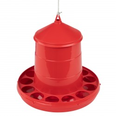MenaVET Kŕmny automat pre hydinu plastový 2 kg, červený