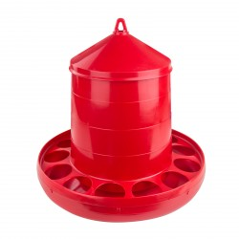 MenaVET Kŕmny automat pre hydinu plastový 12 kg, červený