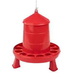 MenaVET Kŕmny automat pre hydinu na nožičkách plastový 2 kg, červený