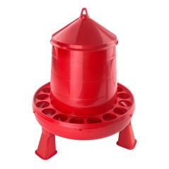 MenaVET Kŕmny automat pre hydinu na nožičkách plastový 4 kg, červený