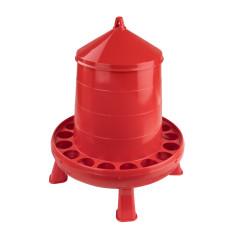 MenaVET Kŕmny automat pre hydinu na nožičkách plastový 8 kg, červený