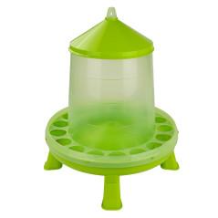 MenaVET Kŕmny automat pre hydinu na nožičkách plastový 8 kg, zelený