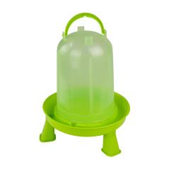 MenaVET Napájadlo pre hydinu s nožičkami plastové 5 l, zelené