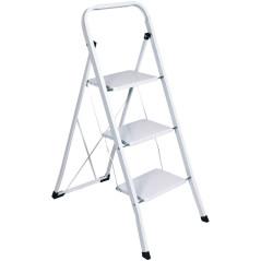 DEMA Skladacie schodíky 3-stupňové, biele