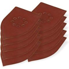 DEMA Brúsny papier pre delta brúsku 105x175 mm K240, 10 ks