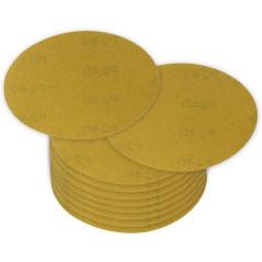 DEMA Brúsny papier pre excentrickú brúsku 115 mm P240, 10 ks