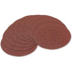 Brúsny papier pre excentrickú brúsku 225 mm P40, 10 ks