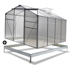 DEMA Záhradný skleník so základňou 4,75 m2 Basic
