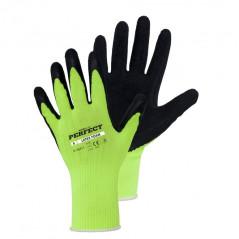 STALCO PERFECT Pracovné rukavice zelené, veľkosť 8