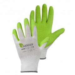 STALCO GARDEN Záhradnícke rukavice biele, veľkosť 8