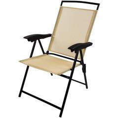 DEMA Skladacia plážová stolička Long Beach, béžová