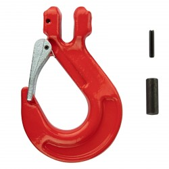 Vidlicový hák s bezpečnostnou poistkou na reťaz 10 mm