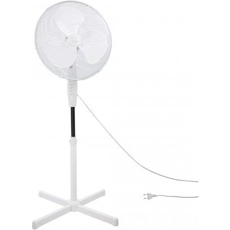 DENNER Stojanový ventilátor 45 cm biely SV45