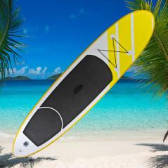 DEMA Stand-Up Paddleboard nafukovací s príslušenstvom do 90 kg, 305x71 cm, žltý