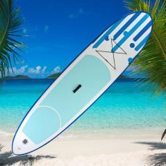 DEMA Stand-Up Paddleboard nafukovací s príslušenstvom do 90 kg, 305x71 cm, modrý