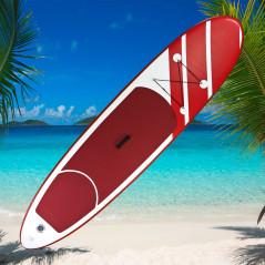 DEMA Stand-Up Paddleboard nafukovací s príslušenstvom do 90 kg, 305x71 cm, červený