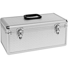 DEMA Hliníkový kufor na náradie a nástroje, strieborný