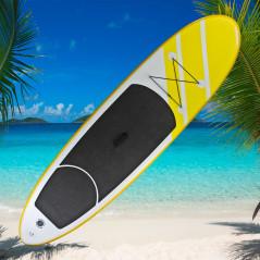 DEMA Stand-Up Paddleboard nafukovací s príslušenstvom do 110 kg, 305x81 cm, žltý