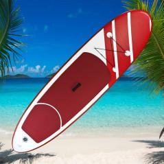 DEMA Stand-Up Paddleboard nafukovací s príslušenstvom do 110 kg, 305x81 cm, červený