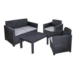 Allibert Záhradná sedacia súprava Merano, grafit-svetlosivá