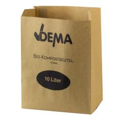 DEMA Biologicky rozložiteľné papierové vrecká 10 litrov, 10 ks