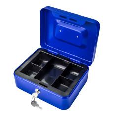 DEMA Kovová pokladnička 20x16x9 cm DGK 200, modrá