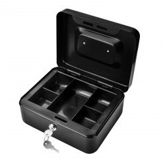 DEMA Kovová pokladnička 20x16x9 cm DGK 200, čierna