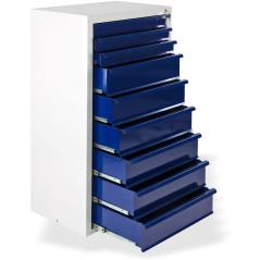 DEMA Dielenská skrinka 9-zásuvková Fernando, sivo-modrá
