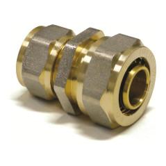Mosadzná redukcia s upínacím krúžkom na hliníkové spojovacie rúry 20x2 / 16x2 mm