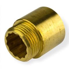 "Mosadzné predĺženie kohútika 1/2"" x 30 mm"