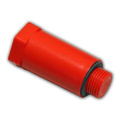"""Plastová stavebná zátka 1/2"""" červená"""