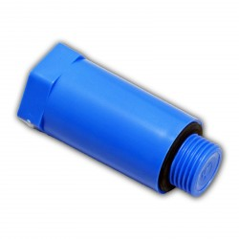 """Plastová stavebná zátka 1/2"""" modrá"""