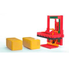 Rezačka blokov s 2 hranatými balíkmi 02333