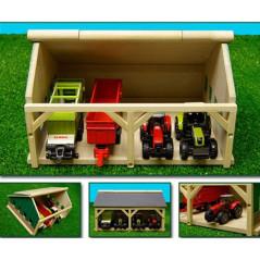 Drevená stodola pre traktor 16,7x20x11,9 cm 1:87