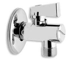 Rohový ventil s filtrom, krytkou a kovovou páčkou 1/2x3/8