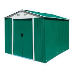 DEMA Kovový záhradný domček 4,8 qm Leeds, zelený