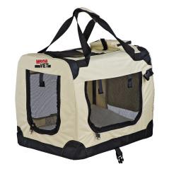 MenaVET Prepravný box pre mačky a psov skladací Felix M 62x42x46 cm, béžový