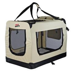 MenaVET Prepravný box pre mačky a psov skladací Felix XXL 89x61x67 cm, béžový
