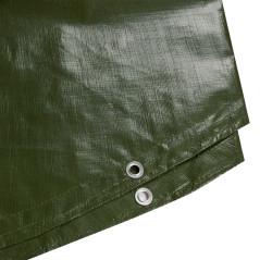 DEMA Nepremokavá plachta zakrývacia kruh 5 m 210 g/m2, zelená