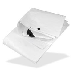 DEMA Nepremokavá plachta zakrývacia 3x4 m 210 g/m2, biela