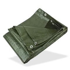 DEMA Nepremokavá plachta zakrývacia 5x6 m 140 g/m2, zelená