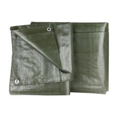 DEMA Nepremokavá plachta zakrývacia 4x8 m 140 g/m2, zelená