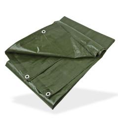 DEMA Nepremokavá plachta zakrývacia 3x3 m 140 g/m2, zelená
