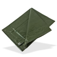DEMA Nepremokavá plachta zakrývacia 2x2 m 140 g/m2, zelená