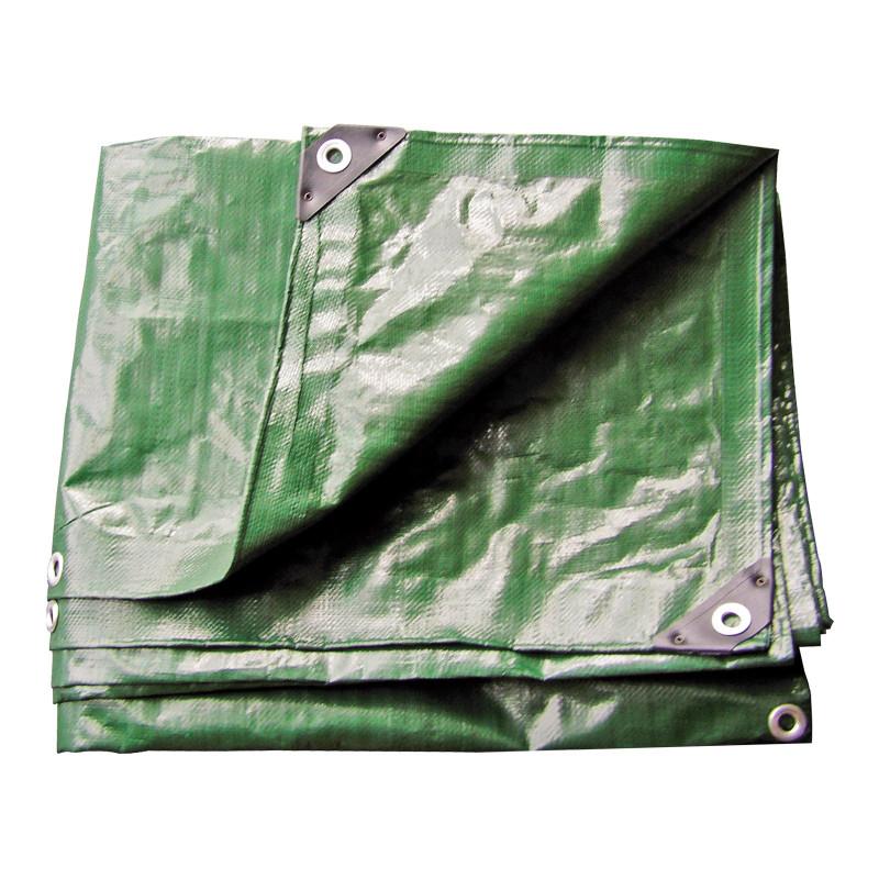 DEMA Nepremokavá plachta zakrývacia 4x5 m 210 g/m2, zelená